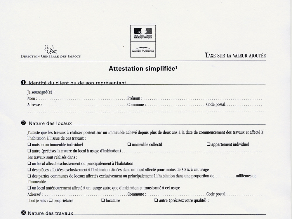 Attestation simplifiée